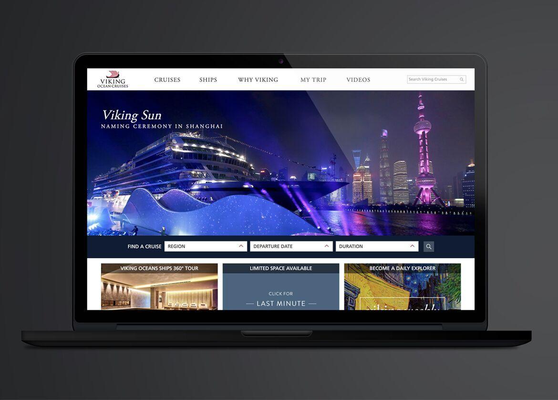 laptop screen on viking website homepage
