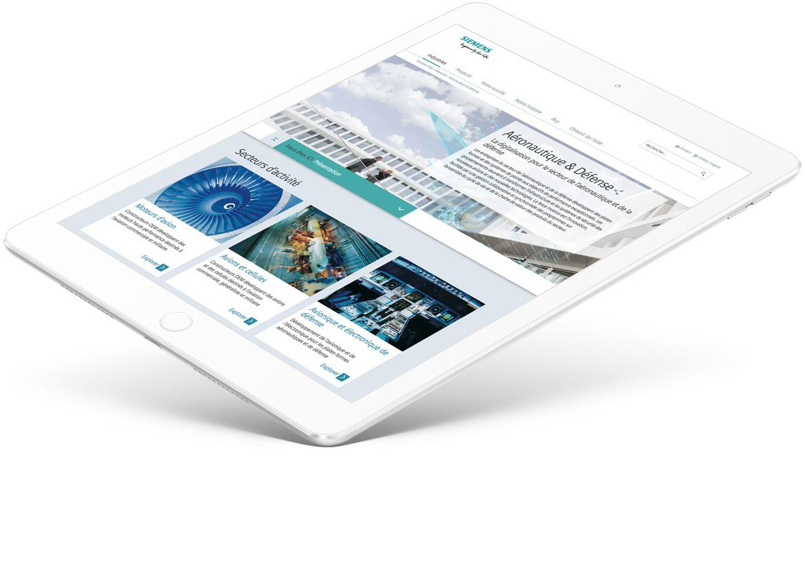ipad on siemens website